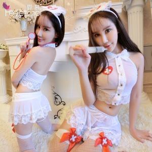 【情趣内衣】霏慕透明蕾丝护士制服套装7901【原8901】(限价销售)更换图片包