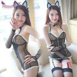【情趣内衣】霏慕俏皮可爱猫女套装7955(限价销售)更换图片包