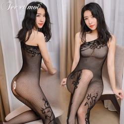【情趣内衣】【天猫专区】霏慕斜肩开档连身袜7518