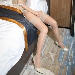 【情趣内衣】霏慕15D裸氨包芯丝硅胶防滑长筒袜7229【限价】
