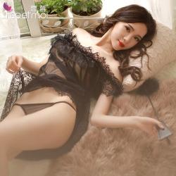【情趣内衣】霏慕一字肩睡裙装7745(限价销售)更换图片参数