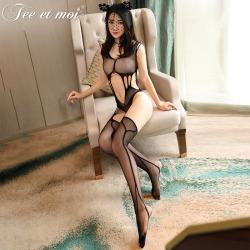 【情趣内衣】【天猫专区】霏慕镂空露臀连身袜7551【限价】