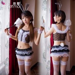 【情趣内衣】【天猫专区】霏慕蕾丝网纱兔女郎套装7951(限价销售)