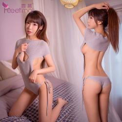 【情趣内衣】【天猫专区】霏慕一字开胸连体毛衣7907(限价销售)