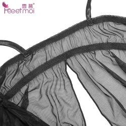【情趣内衣】霏慕花卧双峰捆绑吊带睡裙7767(限价销售)清完不做