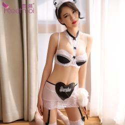 【情趣内衣】霏慕带钢圈女佣分体套装制服诱惑7928(限价销售)