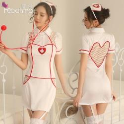 【情趣内衣】霏慕性感爱心护士套装7025(限价销售)(清完不做)