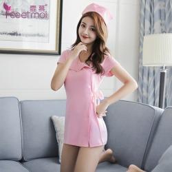 【情趣内衣】霏慕性感短袖护士套装7027(限价销售)