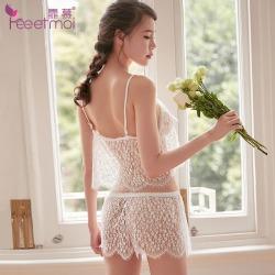 【情趣内衣】霏慕蕾丝吊带分体套装7781(限价销售49.8)清完不做