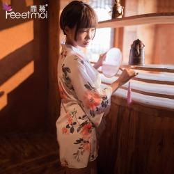 【情趣内衣】霏慕开襟低领印花和服7055(限价销售49.8)