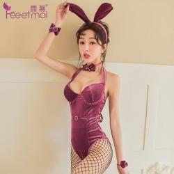 【情趣内衣】霏慕丝绒砖饰奢美兔女装7993 (限价销售68)