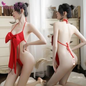 【情趣内衣】霏慕蝴蝶结绑带连体衣7019 (限价销售39)