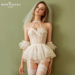 【情趣内衣】珞樱甜蜜浪漫新娘套装5509【限价销售78】