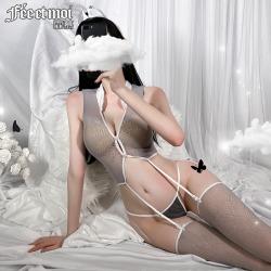 【情趣内衣】霏慕气质空姐连身袜套装7491【限价销售29.9】