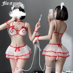 【情趣内衣】霏慕甜美护士三点式套装7901【限价销售48】