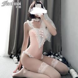 【情趣内衣】霏慕二次元新娘连体衣套装7727【限价销售48】