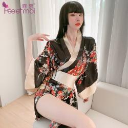 【情趣内衣】霏慕日系印花宽袖和服7972(限价销售58)更新图片包