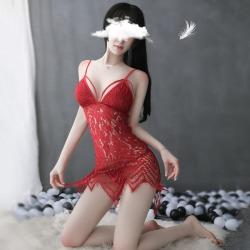 【情趣内衣】霏慕水溶蕾丝波西米亚镂空睡裙7774(限价销售39)更新图片包