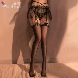 【情趣内衣】霏慕束腰双层透纱吊袜带套装7607(限价销售32.9)