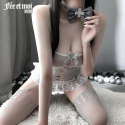 【情趣内衣】霏慕纯欲系护士连身袜套装7494(限价销售32.9)