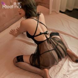 【情趣内衣】霏慕唯美钢圈棉垫公主睡裙7724(限价销售68)