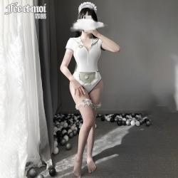 【情趣内衣】霏慕萌兔小护士连体衣套装7910(限时58)