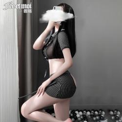 【情趣内衣】霏慕妖娆小秘书露臀套装6965(限时39)