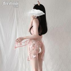 【情趣内衣】霏慕古典花鸟刺绣开衩旗袍7078(限价48)
