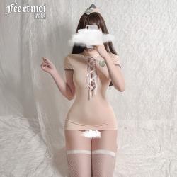 【情趣内衣】霏慕镂空绑带露背甜心空姐装7916(限价39)