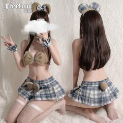 【情趣内衣】霏慕毛绒萌宠小熊分体套装7994(限价销售48)更新图片包